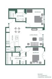 Belmont Floorplan at 2100 Acklen Flats, Tennessee