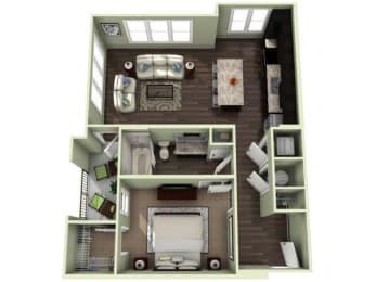 FEARRINGTON Floor Plan at LaVie Southpark, North Carolina, 28209
