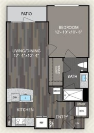 A1 Floor Plan at The Alden at Cedar Park, Cedar Park, 78613