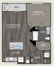 A2 Floor Plan at The Alden at Cedar Park, Cedar Park, Texas