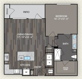 A3 Floor Plan at The Alden at Cedar Park, Cedar Park