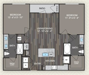 B1 Floor Plan at The Alden at Cedar Park, Cedar Park, TX, 78613
