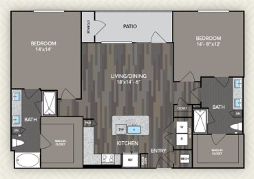 B5 Floor Plan at The Alden at Cedar Park, Cedar Park