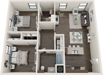 2 Bedroom Harmony Floor Plan