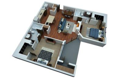Floor Plan Two Bedroom B