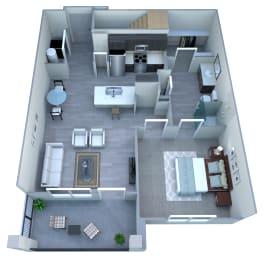 Floor Plan 1x1 With Garage