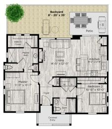 The Retreat Floor Plan at Avilla Eastlake, Thornton, CO, 80241