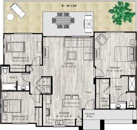 The Haven Floor Plan at Avilla Lago, Peoria, AZ, 85382