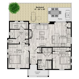 The Retreat Floor Plan at Avilla Parkway, Celina, TX