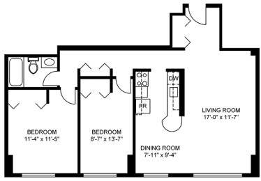 Floor Plan 2 Bedroom (Small)