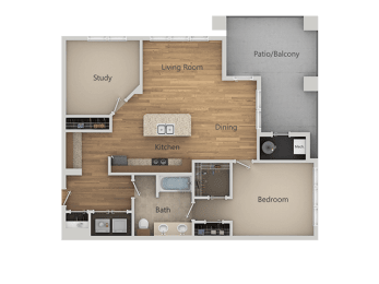 A3 2Bed_1Bath at Avena Apartments, Thornton, CO