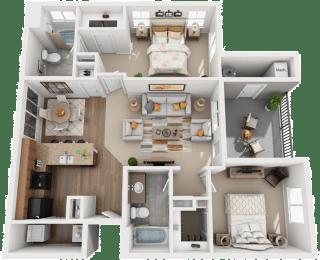 Floor Plan 2x2B