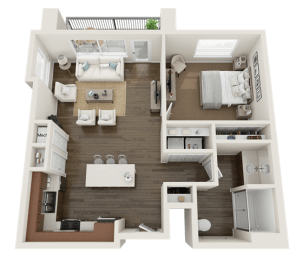 1 BEDROOM Floor Plan at Foothill Lofts Apartments & Townhomes, Logan, UT, 84341, opens a dialog