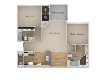 B1 2Bed_2Bath at Indigo Creek Apartments, Thornton, CO, 80229