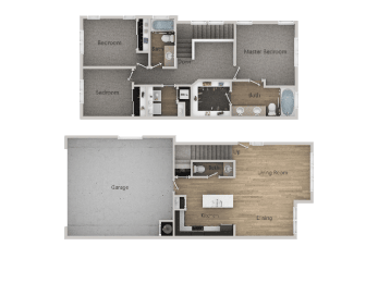 3Bed_2.5Bath Townhome at Parc on CenterApartments& Townhomes, Orem, 84057