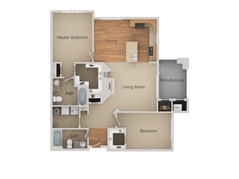 2Bed_2Bath B at San Tropez Apartments & Townhomes, South Jordan