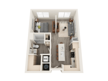 Studio Floor Plan at Soleil LoftsApartments, Utah, 84096
