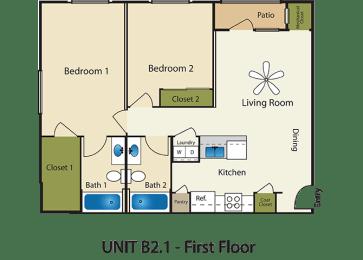 Floor Plan 2X2 B