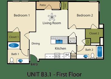 Floor Plan 2X2 C