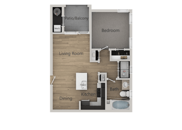 Floor Plan 1Bedroom