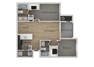 Floor Plan 2Bedroom