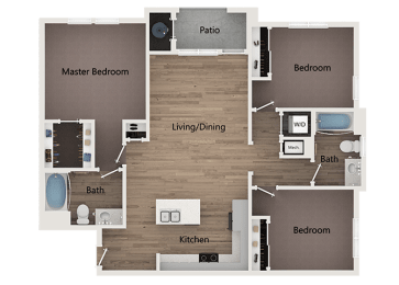 Floor Plan 3Bedroom