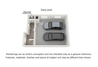 3 Bedroom Trilevel Entry with 2-Car Garage