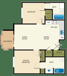Floor Plan 2X2