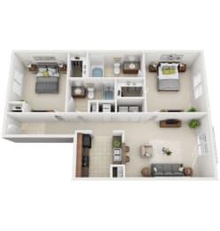 Floor Plan 2-B1