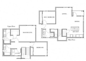 Warner Floorplan at Discovery Heights, Issaquah, 98029