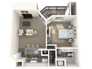 The Argyle  floor plan at The Crest on Hampton Hollow in Silver Springs, MD