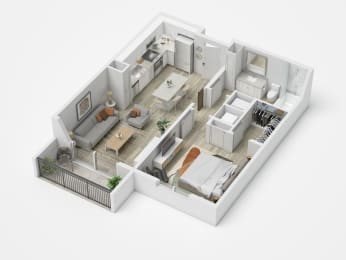 Uptown Boca A1 Floor Plan
