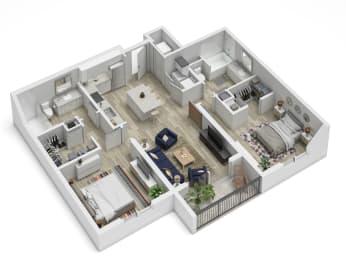 Uptown Boca B3 Floor Plan