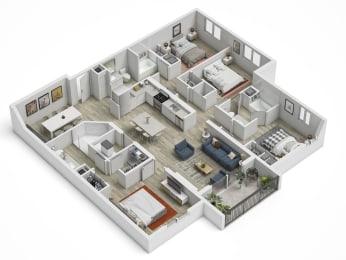 Uptown Boca D1 Floor Plan