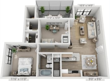 Floor Plan ST TROPEZ