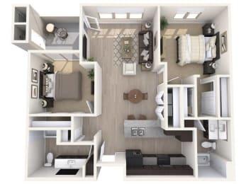 B2 1043 SqFt Floor Plan at The Premiere at Eastmark Apartments , Mesa, 85212