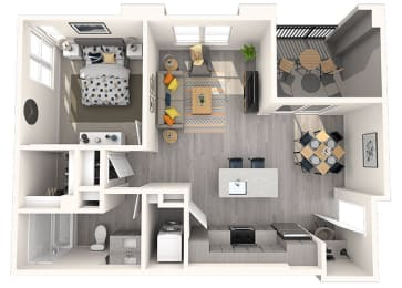 L-2 Floor Plan at Grayson Place Apartments, Goodyear, 85338