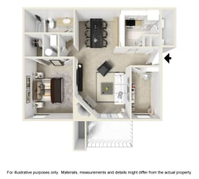 The Georgiana Floor Plan at Chinoe Creek Apartments in Lexington KY, opens a dialog
