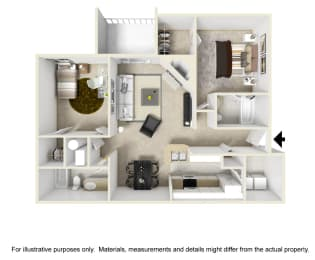 The Glencrest Floor Plan at Chinoe Creek Apartments in Lexington KY, opens a dialog