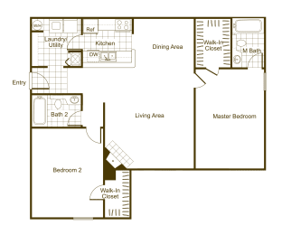 Maple 2Bed_2Bath at The Timbers, Virginia, 23235, opens a dialog