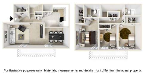 Summerhill Floor Plan at Tates Creek Village Apartments in Lexington KY