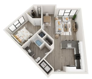 A4_A Floor Plan at Link Apartments® Montford, Charlotte