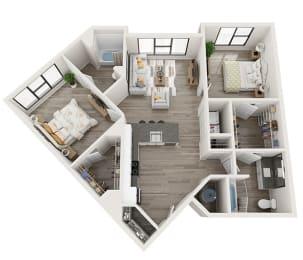 B3 Floor Plan at Link Apartments® Montford, Charlotte
