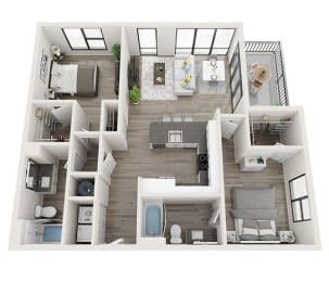 B4 Floor Plan at Link Apartments® Montford, North Carolina