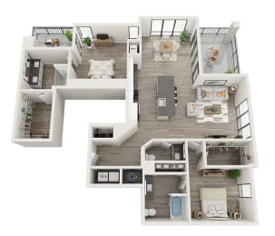 B5 Floor Plan at Link Apartments® Montford, North Carolina, 28209