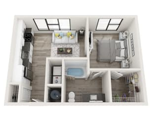 S2 Floor Plan at Link Apartments® Montford, Charlotte, NC