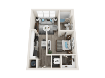 A1 Floor Plan at Link Apartments® Linden, Chapel Hill, NC, 27517