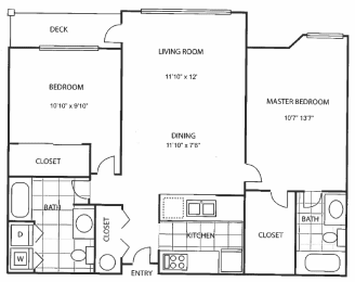 floor plan 932 Axcess 15 apartments Logo at axcess 15 apartments in Portland oregon