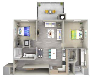 hightide 4.1 Floor Plan at Las Positas Apartments, Camarillo, California
