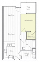 A-1 Floor plan, at Parc One, Santee, CA